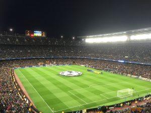 stade de football la nuit