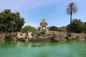 parc ciutadella lac barcelone