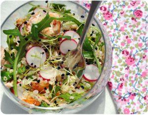 Salade saumon quinoa radis