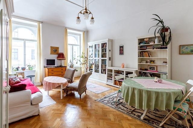 salon et salle à manger d'appartement