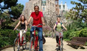 electric bike sagrada familia