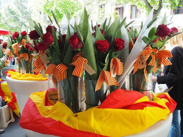 bouquet de fleurs pour la sant jordi