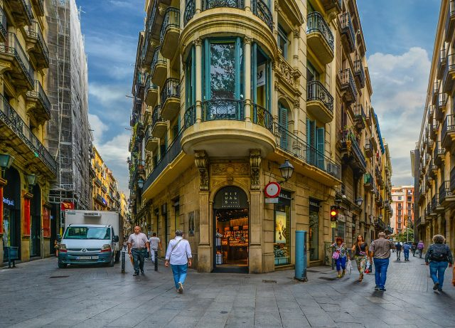 rues pavées de barcelone