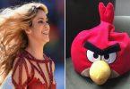 angry bird shakira barcelona