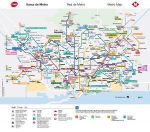carte métro barcelone