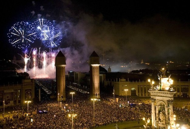 La place de Catalunya pour fêter le nouvel an à Barcelone
