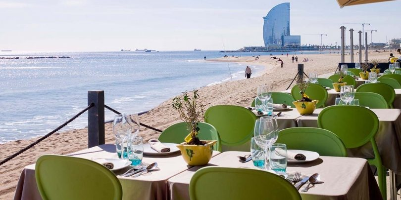 restaurants en bord de mer barcelone. Black Bedroom Furniture Sets. Home Design Ideas