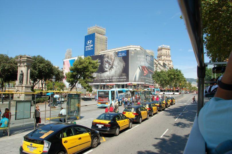 ligne de taxis à barcelone