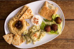 falafels et hummus