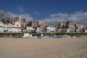 La plage de Montgat