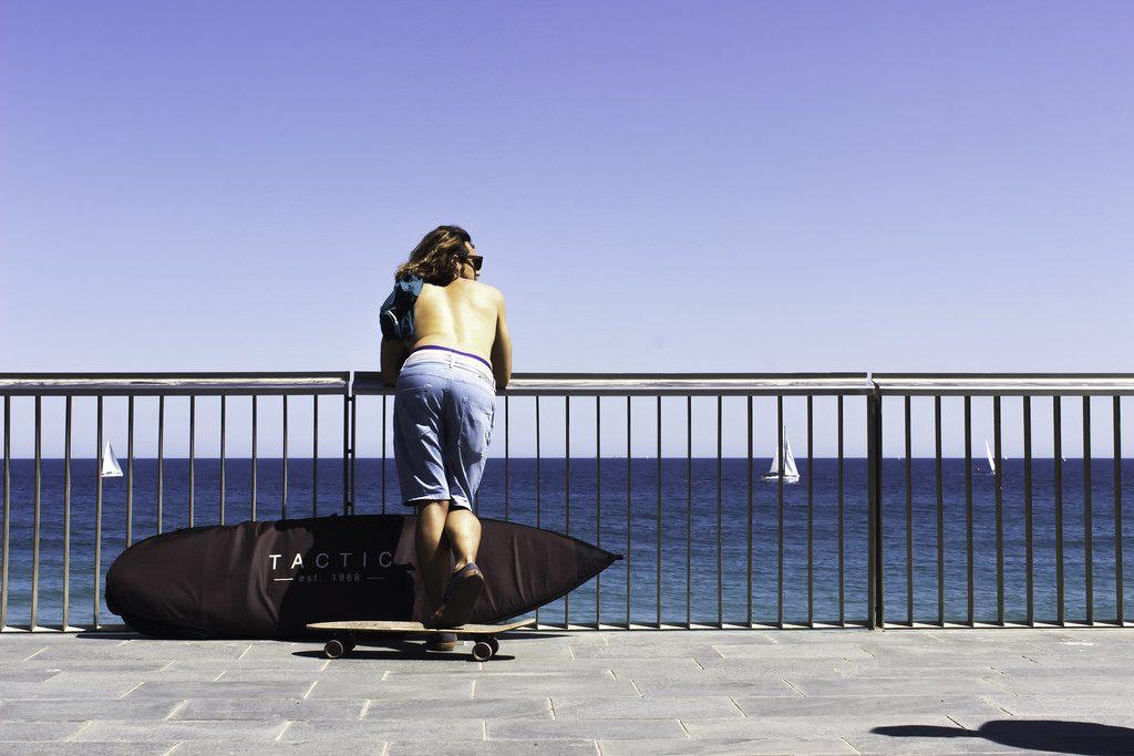 barcelona beach skate
