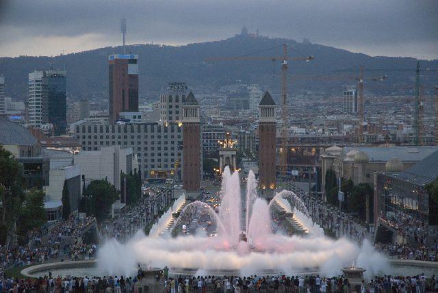 Spectacle son et lumière Barcelone