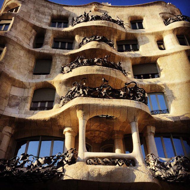 Another amazing building by Antoni Gaud La Pedrera a masterpiecehellip