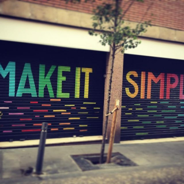 Make it simple makeitsimple rainbow colors bcn barcelona street streetarthellip