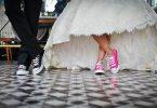 couple en robe de mariée