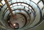 vue intérieure escalier en rond