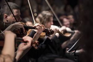 orchestre avec des violonistes