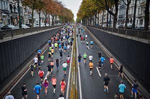 course gens sur la route