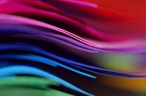 feuilles de papier de couleur