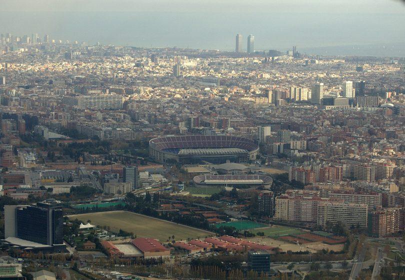 vue sur le quartier de les corts à barcelone
