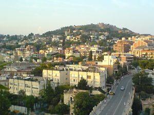 vue sur le quartier de vallcarca à barcelone