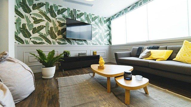 salon avec meubles et canapés