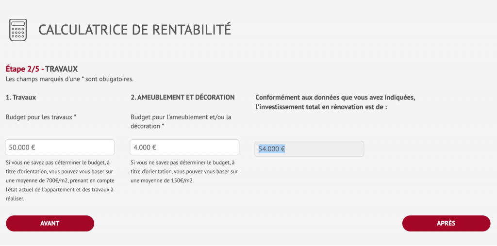 calculateur de rentabilité