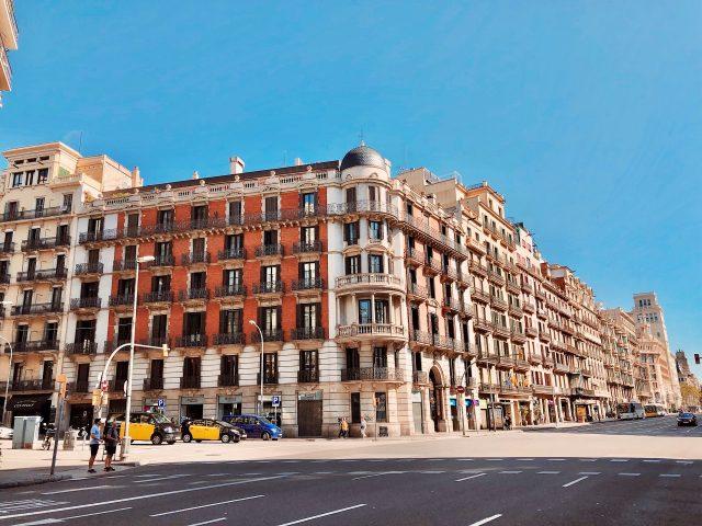 façade d'immeuble à Barcelone